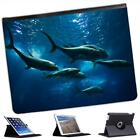 Fish In Sea Folio Wallet Leather Case For iPad 2, 3 & 4