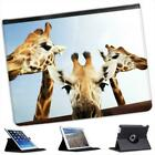 Giraffe Heads Folio Wallet Leather Case For iPad 2, 3 & 4