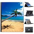 Taste Of Paradise Blue Sea Sand Beach Palm Trees Leather Case For iPad 2, 3 & 4