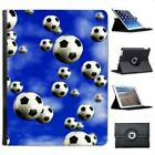 It's Raining Footballs Soccer Balls Folio Wallet Leather Case For iPad 2, 3 & 4