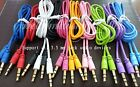 3.5mm Male M / M Stereo Audio AUX Auxiliary Cable Cord PC MP3 CAR NEW