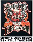 TO HELL AND BACK THEN BACK AGAIN  BIKER SCREAMING SKULL IN FLAMES T-SHIRT WS591