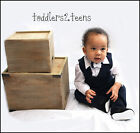 Baby Boy 4 Piece Navy Outfit Smart Suit Bow Wedding Christening Formal Party