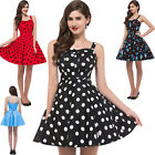 SEXY CLASSIC VINTAGE STYLE 1950's FULL CIRCLE ROCKABILLY SWING DRESS SIZE S~XL