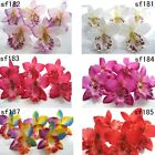 "Cattleya orchid Artificial Silk Flower Heads Wedding bride decor 3.4""/8.5cm"