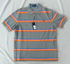 NEW FRED PERRY M6234 STEEL GREY REPEAT MULTI STRIPE POLO SHIRT SIZE S BNWT