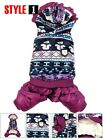 Various Fleece Lining Coat Snowsuit Jumpsuit small Dog Clothes Dog Costume 5size
