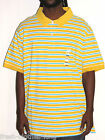 Dockers Polo Shirt New $55 Mens Stripe Yellow Choose Size Big & Tall