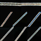 1Yds 3 Row Diamante/Rhinestone AB Chain Sliver Gold Wedding Costume Sewing Trims