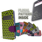 Hexagonal pattern wallet book case S-view window cover for Samsung Galaxy S5 SV
