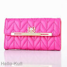 Luxury Leather Bling Diamond Bowknot Pink Wallet Case Cover For iPhone5 5S 5HTBP