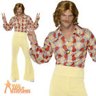 Groovy Guy 60s 70s Costume Disco Mens Abba Hippie Flares Fancy Dress Outfit