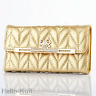 Luxury Leather Bling Diamond Bow Gold Wallet Case Cover For iPhone5 5S HTBG