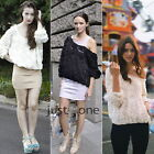 Fashion Women Lady Girls HOT Sexy 3D Rose Flower Mesh Jumper Pullover Shirt Top