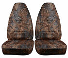 Ford Ranger Truck 60/40 Seat Covers Front Set in Camo Orange or choose color