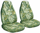 Ford Ranger Truck 60 /40 Seat Covers Front Set in Camo Orange or choose color