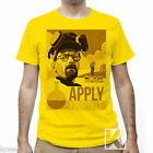 T-shirt Breaking Bad APPLY YOURSELF POSTER Maglietta Gialla YELLOW Classic