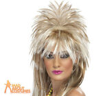 Sparkle Rock Diva Wig 80s Blonde Mullet Ladies Womens Fancy Dress New