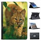 Wild Animal Bobcat Kitten in Lush Green Foliage Leather Case For iPad Mini