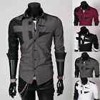 Morden Design Style Mens  Slim Fit Dress Man Shirts Tops Western SplendidLovely