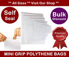 Plastic Mini Grip Self Seal Clear Bags Poly Self Sealable **Multiple Sizes**