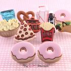 FUNKY JUNK FOOD STUD EARRINGS GIRLS RETRO COOL QUIRKY NOVELTY SNACK KITSCH SWEET
