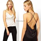 Sexy Women's Lady Halter Sleeveless Low Cut Vest Shirt Tank Backless Top C1MY
