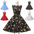 New Charming 50s 60s Vintage Country Style Polka Dot Summer Cocktail Party Dress