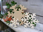 *SNOWFLAKE* Wooden Shape Xmas Craft Blank Decoration Plaque FREESTANDING