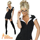 Sexy Secretary Costume Naughty Hen Party Womens Fancy Dress Outfit UK 8 - 14