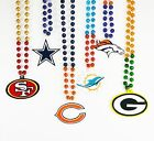 NFL Football Team Bead Necklace With Medallion Logo - Pick Your Team!!