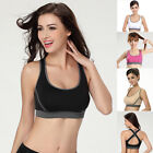 Discount~Cross Back Style Womens Padded Classic Soft Sports Yoga Comfort Bra S~L