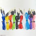 Lot of 3FT 3.5mm Jack Male to Male Stereo Aux Audio colorfulCable Cord