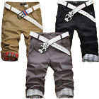 FASHION Men's Shorts Chino Cargo Cotton Casual Summer Work Combat Pants Trousers