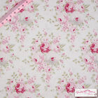 Tilda Laura White Fabric for Quilting/Craft/Patchwork/Decoration - Roses/Cotton