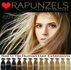 "20"" pre bonded nail/U tip real remy human hair extensions fusion, heat connector"