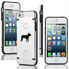 For iPhone 4 4s 5 5s 5c Transparent Clear Hard TPU Case Cover Boston Terrier