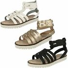 Girls Down To Earth Casual Gladiator Sandals
