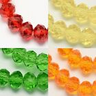 100 pcs  RONDELLE FACETED GLASS CRYSTAL BEADS 6mm SPRING COLOURS jewellery