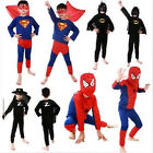 Halloween Costume Party Cosplay Kids Boys Spider-Man Superman Batman Zorro Suit