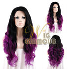 "Gamora Wig Long Curly 18""- 26"" Black Roots with Magenta Lace Front Wig"