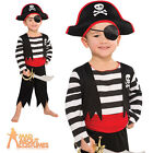 Child Deckhand Pirate Costume Captain Hook Boys Fancy Dress Book Week Age 3-6