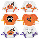 Halloween Pumpkin Witch Skull White Orange Cotton Pantie Baby Bloomer 6m-3Year