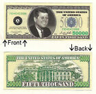 $50,000 Fifty Thousand Casino Dollars Bill Novelty Notes 1 5 25 50 100 500 1000