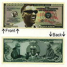 Ray Charles One Million Dollars Novelty Bill Notes 1 5 25 50 100 500 or 1000