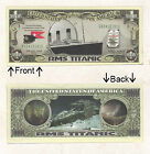 RMS Titanic Ship Memorial Million Novelty Bill Notes 1 5 25 50 100 500 or 1000