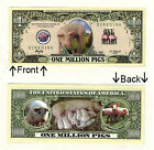 Oink Oink Pig 1 Million Dollars Novelty Bill Notes 1 5 25 50 100 500 or 1000