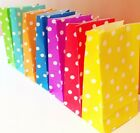 Party Paper Bags Sweet Bags Gift Bags Pick n Mix Bags Polka Dot x 10