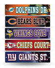 "NFL Football Street Sign 3.75"" x 16"" - Pick your team!! on eBay"