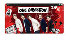 1D ONE DIRECTION STATIONERY: Single Large Pencil Case Red/Black - Back to School